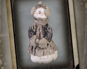 "Pattern: Snowbelle 30"" Snow Lady Doll Pattern, Accessory Pak or Set by Sparkles n Spirit"