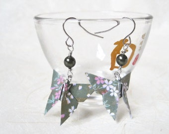 Origami Earrings - Paper Earrings - Butterfly Earrings - Origami Jewelry - Paper Jewelry - gift for her - WY09