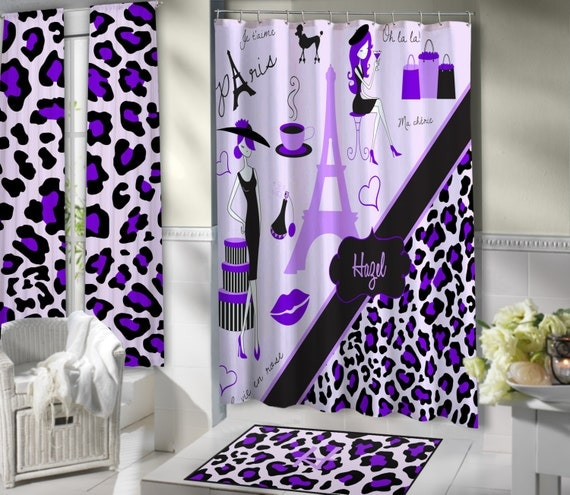 lavender paris shower curtains paris themed by eloquentinnovations, Home design