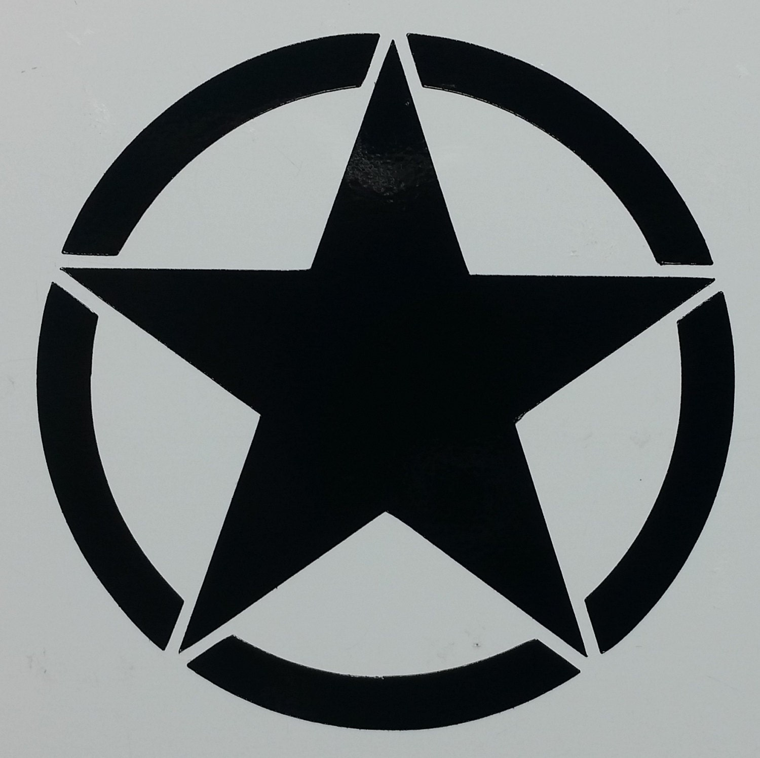 Military Star symbol decal sticker several sizes and colors