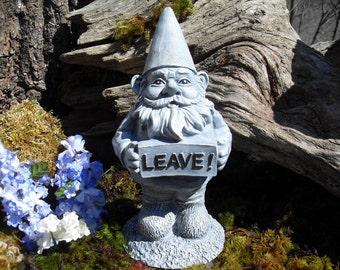 Gnome Statue,Garden Gnome Statue,Rude Gnome,Naughty Gnome Statue,Outdoor Garden Gnome, Stone