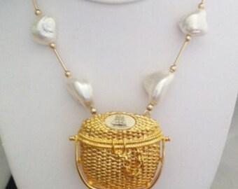 NAA Nantucket Basket Necklace