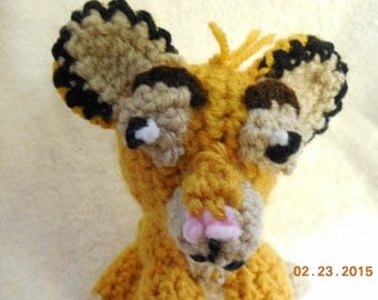 Crochet Little Lion Cub Inspired By Simba From The Lion King