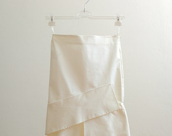 90s Gucci white skirt with ruffle - Tom Ford Era