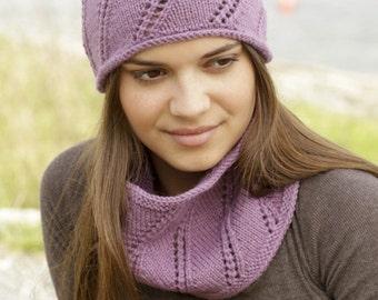 Knitted hat and neck warmer, ALL COLORS AVAILABLE, woman hat, hat, wool, alpaca, knitwear