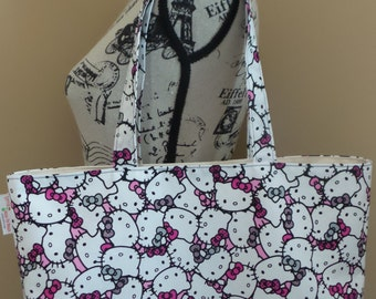 Hello Kitty Tote Bag, Shoulder Bag, Canvas Bag, School Bag, Large Tote