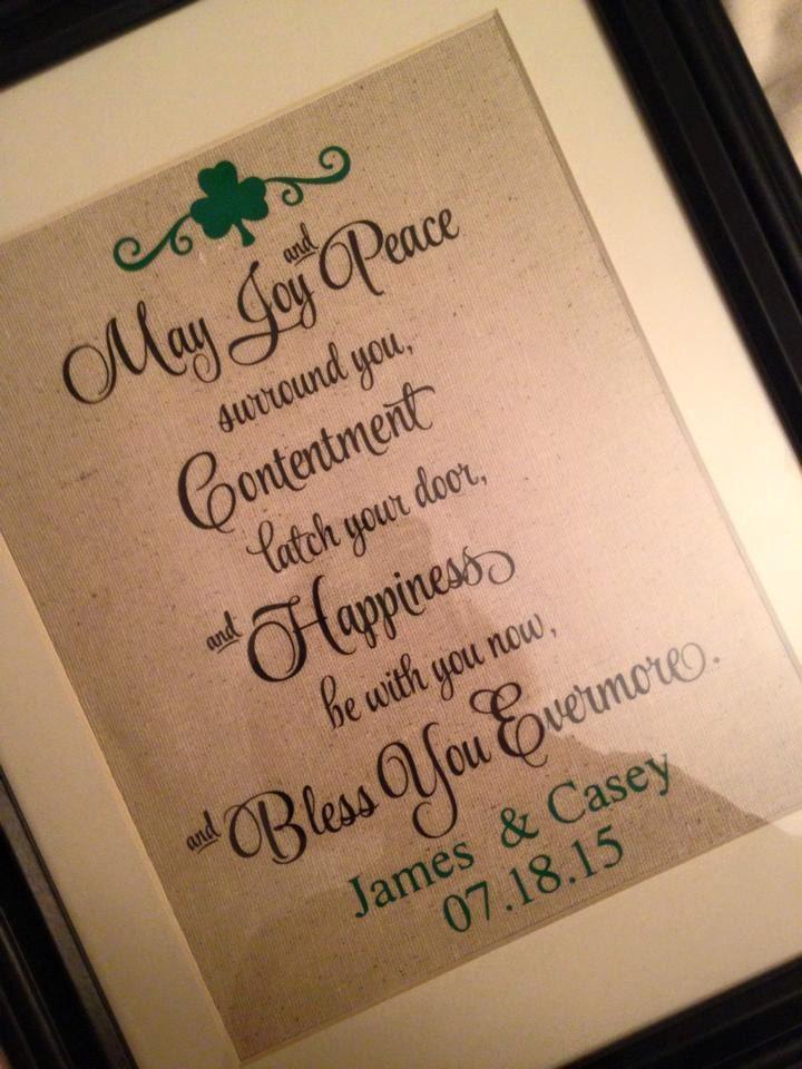 Marriage blessing irish wedding blessing irish wedding gift for Irish wedding gifts from ireland