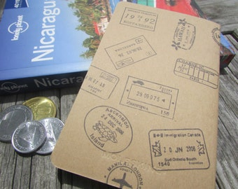 Pocket Kraft Moleskine Passport Stamps Notebook : Hand-stamped Travel Journal