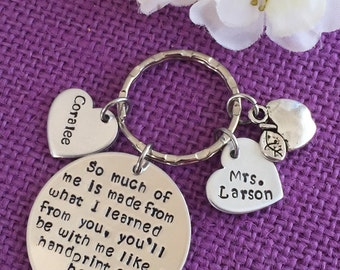 Teacher Keychain - Teacher Gift - Teacher Appreciation - Graduation Gift - End of year - Personalized Keychain Teacher - Gift for teacher