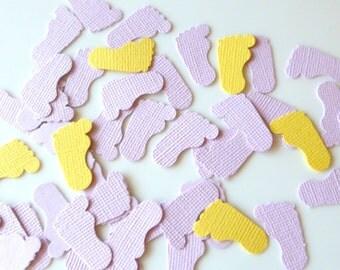 Baby Confetti, Footprints  - Set of 10 pairs of footprints