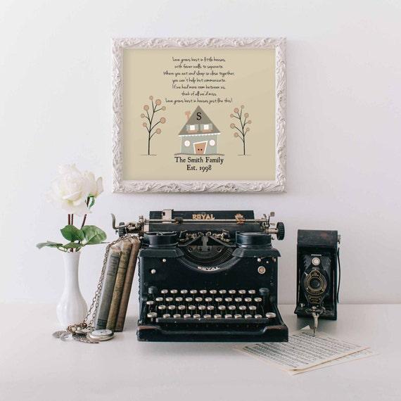 Love Grows Best in Little Houses Poem