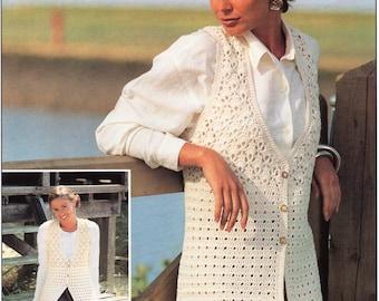 Ladies CROCHET PATTERN Ladies Crochet Waistcoats Long or Midi Womens Waistcoats 32-45inch DK Womens Crochet Pattern Pdf Instant Download