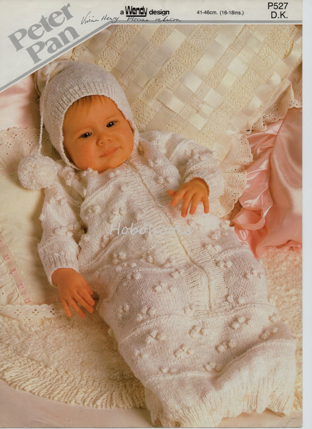 Baby Sleeping Bag Knitting Pattern : Baby Knitting Pattern Baby Sleeping Bag with Hood Baby Growbag
