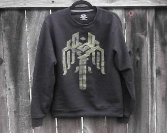 Hand-painted Dragon Age Kirkwall Crest Crewneck Sweatshirt