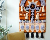 Reserved! Large 1970's Fiber Art Wallhanging FREE SHIPPING!