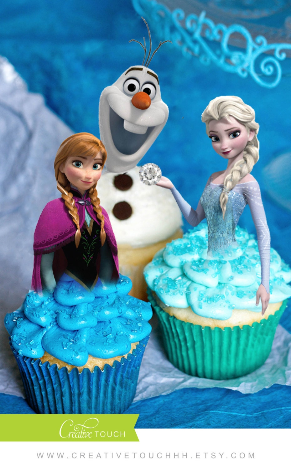 Frozen Cupcake Toppers Elsa Cupcake Toppers Elsa Anna