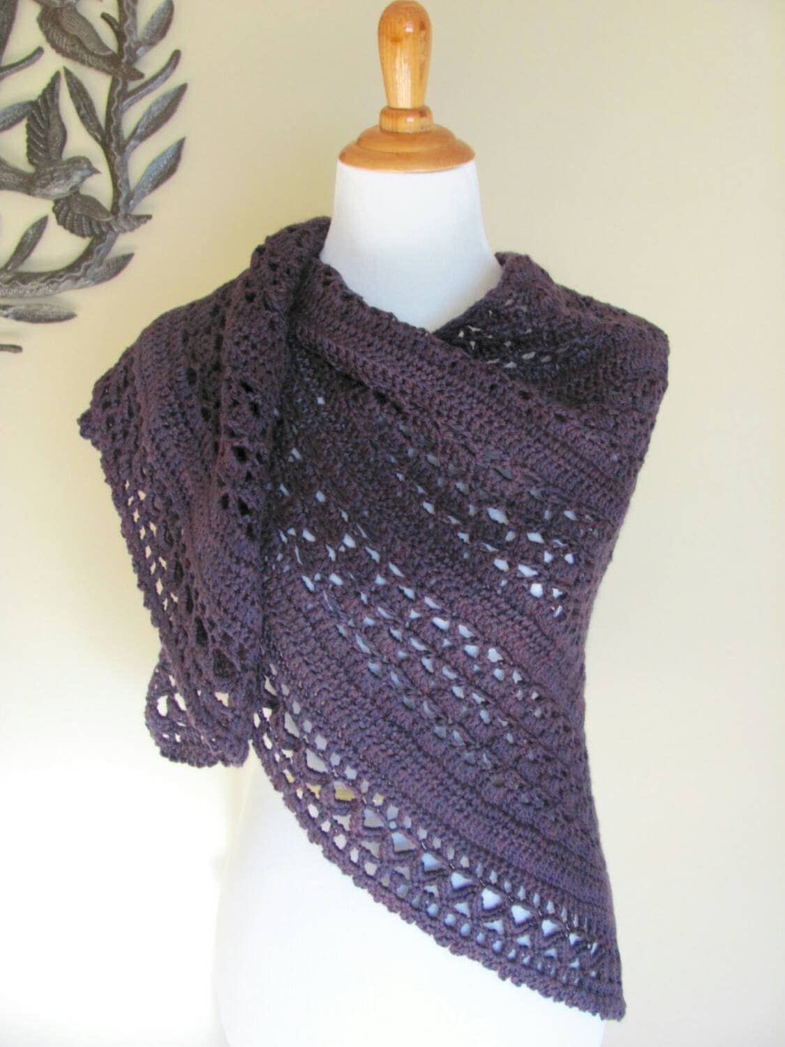 Wrapped In Warmth Prayer Shawl Crochet Wrap