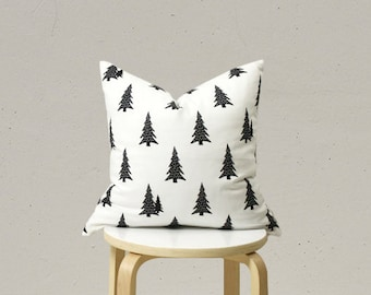 Black and White Pillow Case, Big Tree pillow cover