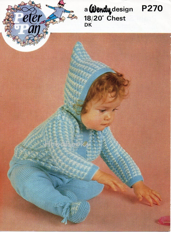 Knitting Patterns For Baby Jacket With Hood : baby pram set knitting pattern hooded jacket leggings cardigan with hood pull...