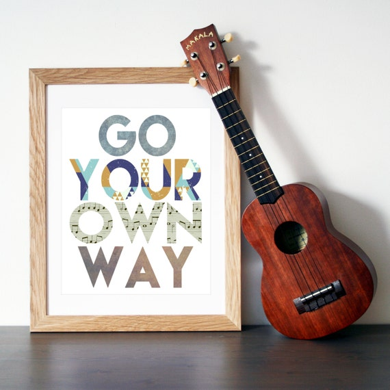 Go Your Own Way Fleetwood Mac Inspired Wall By