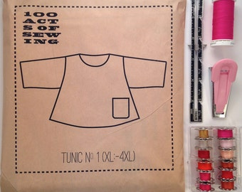 100 Acts of Sewing: Tunic No. 1 - Sewing Pattern  (sizes XL-4XL)