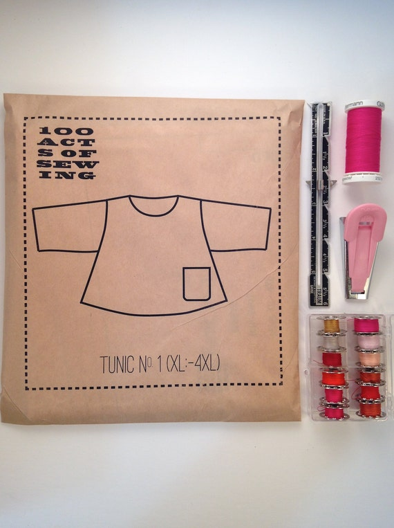 100 Acts Of Sewing Tunic No 1 Sewing Pattern Sizes