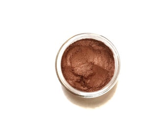 Copper - True Metallic Copper Vegan Mineral Eyeshadow - Handcrafted Makeup