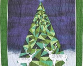 """Holiday Tree Quilt, 43"""" X 62"""""""