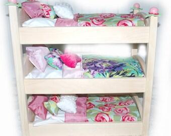 Newborn Triplets Photo Prop Triple Doll Bunk Bed Foam
