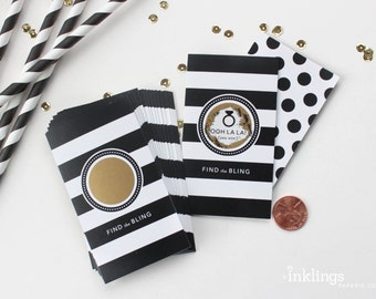 NEW! 24 Scratch-off Cards  // Bridal Shower Game, Scratch-off Game, Bridal Shower Activity, Bachelorette Party Games // Parisian Stripes
