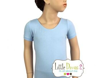 Lt.Blue Leotard-Ballet Short Sleeve Leotard (Children's)