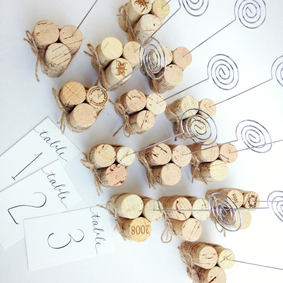 Wine Cork Table Numbers: Items Similar To Rustic Twine Table Number Holder, Table