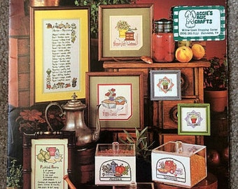 Counted Cross Stitch Pattern, Herbs and Spices, Country Kitchen Decor, Leisure Arts Leaflet 201