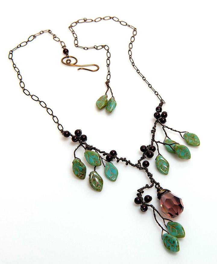 green and burgundy statement necklace burgundy bridal
