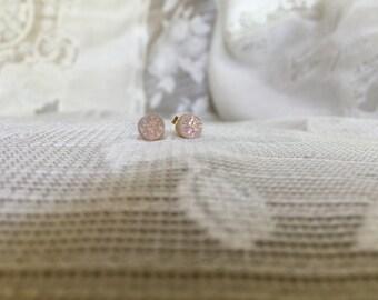 Natural druzy Studs , Drusy Earrings, Drusy Quartz Jewelry,stud Earrings, Drusy Earrings,flower girl earrings bridesmaid earrings