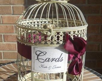 Wedding Card Holder, Wedding Money Holder, Bird Cage Card Box, Antique Birdcage, Bird Cage Card Holder, Wedding Supplies, Personalized