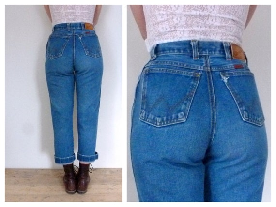 High Waist Jeans Vintage 80's Wrangler Boot by thatwasagoodyear