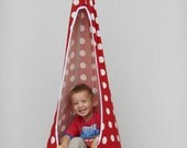 LAST ONE Red mushroom swing,handmade hammock chair for children,relaxing swing,indoor/outdoor swing, gift for children, up to 70 kg/154 lbs