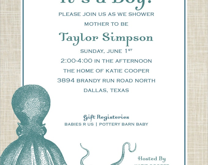 Nautical Sea Life | Baby Shower Invitation