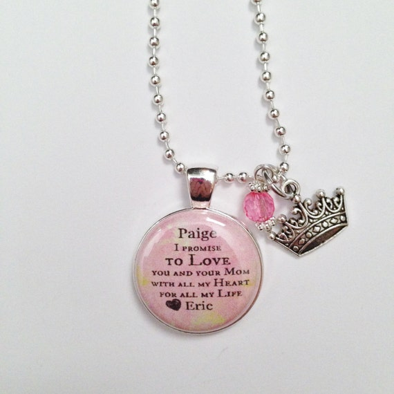 Wedding Gift To Step Daughter : WEDDING STEP DAUGHTER Charm from Groom, gift wedding day , I promise ...