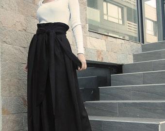 Wool Skirt, Maxi Skirt, Winter Skirt, Long Skirt, Chocolate Skirt, High Waist Skirt, Floor Length Skirt, Fashion Outfits by CARAMELfs S1015