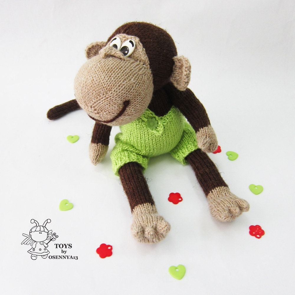 Naughty monkey-knitting pattern (knitted round) from ...