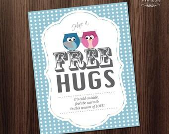 Printable Poster - Free Hugs