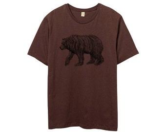 ON SALE - Mens Bear Shirt - Custom Bear Shirt - Custom Color Shirt - Small, Medium, Large, XL, 2XL - Guys Bear Shirt (14 Color Options)