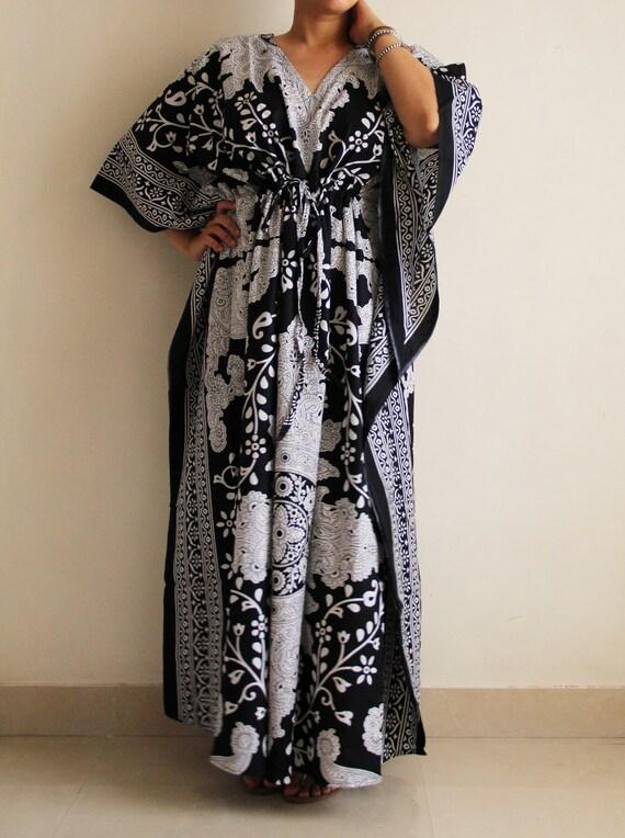 Dress Cotton Caftan maxi kaftan night gown baby shower
