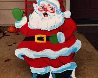 Santa Claus- Vintage Christmasr- Old Fashioned Look- Christmas Yard Decor- Vintage look Santa- Outdoor Santa- christmas yard- retro santa