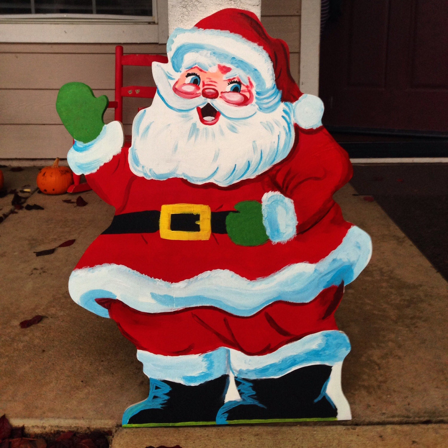 Wooden halloween yard decorations - Santa Claus Sign Vintage Christmas Old Fashioned Look Christmas Yard Decor Vintage