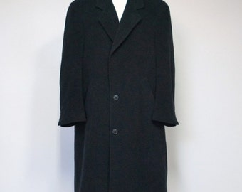 Vintage Cashmere Coat Men's Overcoat Wool Cashmere Warm Coat Joseph & Feiss Long Coat Winter Coat 1990's Size 42