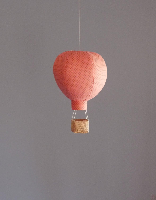 Single hot air balloon decoration nursery by aliceandpeter for Air balloon decoration