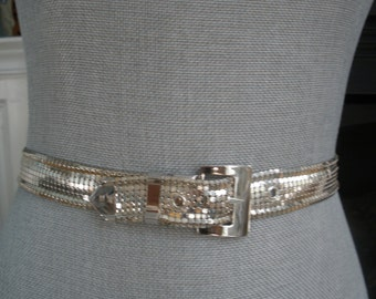 Vintage Whiting & Davis Silver Mesh Belt